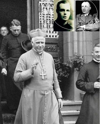 La foto mostra il Cardinale tedesco Von Galen fiero oppositore del regime nazista e del quale il redentorista P. Josef Averesch, C.Ss.R. 1902-1949 (Borussia, della Provincia di Colonia) fu molto amico. Internato nel campo di concentramento di Dachau, fu liberato con altri sacerdoti nel 1945, ma morì a causa delle sevizie subite negli interrogatori della Gestapo e nel lager. Si può considerare un martire del segreto confessionale:rifiutatosi di rivelare il contenuto di una confessione fu arrestato e internato.