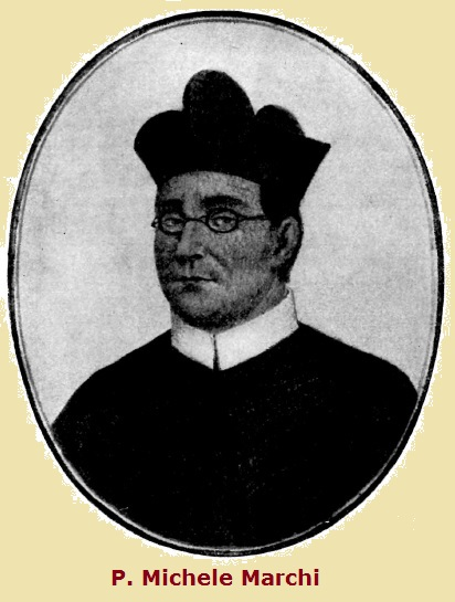P. Michele Marchi (1829-1886) è il giovanetto che frequentava le chiese di S. Agostino e di S. Maria in Posterula o dell 'Orso, al quale il vecchio frate agostiniano parlava sovente della nostra cara Immagine,