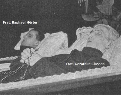 I due Fratelli redentoristi Gerardus Classen (1878-1931) e Raphael Hörter (1889-1931) della Provinvicia Germania Inf. morirono a tre giorni di distanza e furono accomunati in un unico solenne funerale. I fedeli nell'occasione dimostrarono ai figli di S. Alfonso un affettuoso attaccamento.