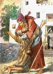 Il Padre gli corse incontro, gli si gettò al collo e lo baciò.