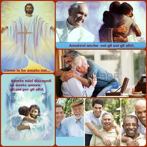 Gesù ha lasciato un solo comandamento: «Amatevi gli uni gli altri». L'amore fraterno fa «nuove tutte le cose» e rivela il vero volto di Dio. L'amore rivela la forza della risurezzione. Perciò bisogna dirselo: con le parole, con i gesti, con la gioia.