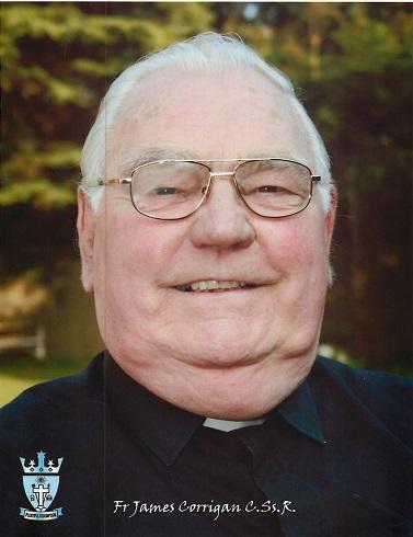 Il redentorista P. James Corrigan, C.Ss.R. 1927-2015 – Regno Unito, Provincia di Londra. Aveva uno zio redentorista, Fratello Pascal, e come lui di umore buono e dotato di simpatica ironia. Morto a 88 anni.