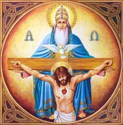 Gloria al Padre, che ci ha creati; Gloria al Figlio che ci ha redenti; Gloria allo Spirito Santo che ci santifica e ci guida all'eternità.