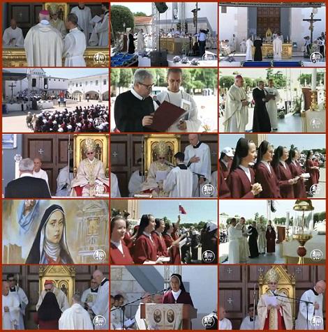 Fotogrammi della Beatificazione di Suor Maria Celeste Crostarosa - Foggia 18 giugno 2016 presso il Santuario dell'Incoronata.