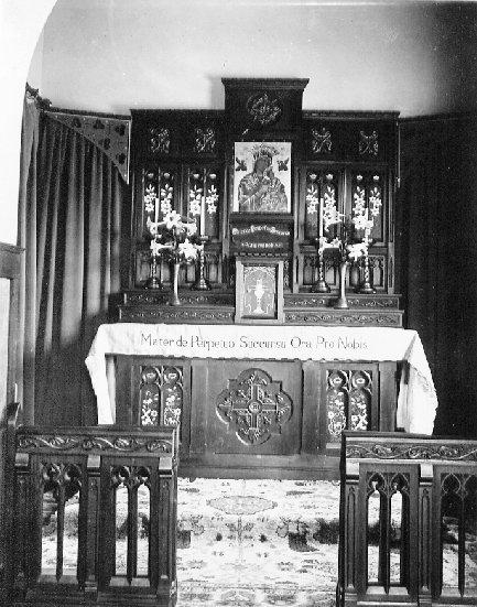 Nessuna immagine del redentorista P. John Lawrence, 1885-1970– Irlanda, Provincia di Londra. - La foto mostra la Cappella della Casa di Ritiri a Heathfield South Africa, dove il P. Lawrence è stato alcuni anni.