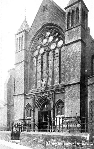 Nessuna immagine del redentorista P. Frederick Lonergan, 1880-1967, Regno Unito, Provincia di Londra. L'antica foto mostra la chiesa redentorista di Sunderland dove egli morì nel