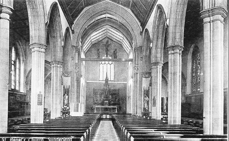 Nessuna immagine del redentorista P. James Loughman, C.Ss.R. 1885-1962 – Irlanda, Provincia di Londra. Morì a Sunderland nel 1962. Nell'antica foto l'interno della chiesa redentorista di Sunderland.