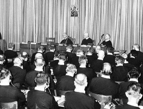 Non è disponibile alcuna immagine del redentorista P. Peter Costello C.Ss.R. 1876-1940  Canada della Vice Provincia di Toronto.  Morì a Toronto in giorno di sabato nel 1940, dopo lunga malattia (nella foto: Momento del Capitolo Generale XXIII, 1967).