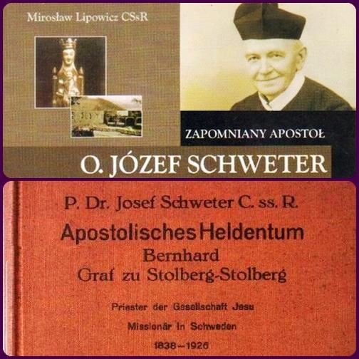 Sul P. Josef Schweter oggi sono in corso degli studi e delle pubblicazioni, come quelle riportate in foto.