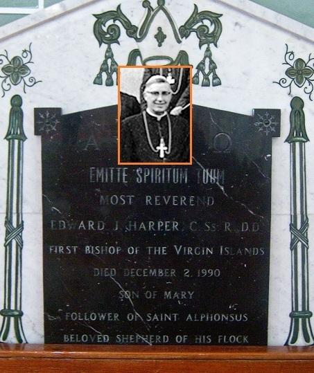 Il redentorista Mons. Edward John Harper, 1910-1990 – USA, Provincia di Baltimora. Nato a Brooklyn, ordinato sacerdote a Esopus nel 1939. È stato superiore della Viceprovincia di San Juan. Nel 1960 è stato consacrato Vescovo.