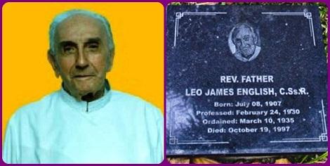 Altra immagine del P. Leo James e la sua tomba nel cimitero redentoriste nelle Filippine.