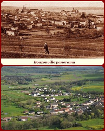 Nessuna immagine del redentorista P. Julius Altmayer, 1911-1946 – Francia, Provincia di Strasburgo, morto a 34 anni. La foto mostra il panorama  di Bouzonville ieri e oggi.