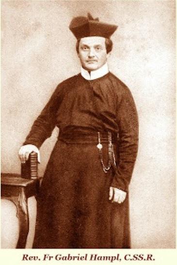 Il redentorista P. Gabriel Hampl, C.Ss.R. 1814-1875 – Borussia, Vicariato Generale Transalpino. aveva assorbito l'essenza pura della Congregazione in Friburgo e Vienna attraverso la conoscenza dei discepoli di S. Clemente Hofbauer.