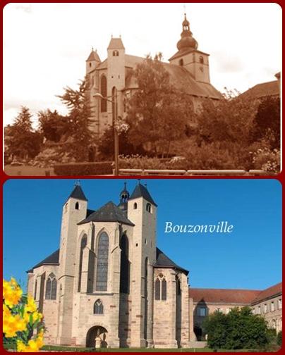Nessuna immagine del redentorista P. Joseph Glaser, 1898-1932 – Francia, Provincia di Strasburgo, morto a 34 anni. La foto mostra la chiesa del paese natale Bouzonville ieri e oggi.