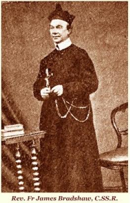 Il redentorista P. James Bradshaw, 1818-1892 – Regno Unito, Provincia Flandrica. Fu uno dei pionieri della presenza redentorista in Irlanda. Morì il 5 luglio 1892, aveva 70 anni.