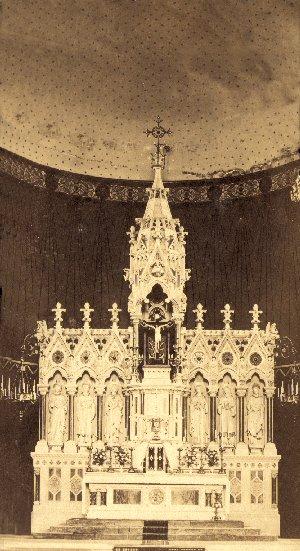 Nessuna immagine del redentorista P. James Connolly, 1822-1891, Irlanda, Provincia di Londra. Morì a 69 anni. (foto; l'altare maggiore della chiesa redentorista di Limerick, dove P. Connolly predicò per lungo tempo).