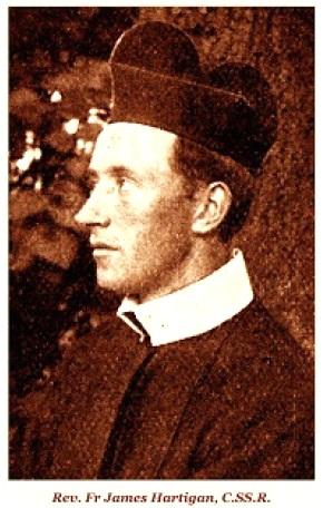 Il redentorista P. James Hartigan, 1869-1899, Irlanda, Provincia di Londra. La sua vita era ricca di promesse di grandi cose da fare nell'opera sacerdotale. Ma Dio ha voluto per lui una breve vita, e la morte è venuta alla giovane età di 30 anni.