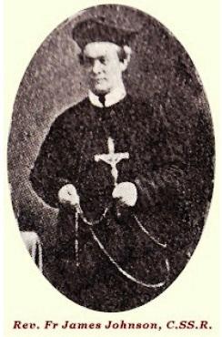 Il redentorista P. James Johnson, 1816-1886, Irlanda, Provincia di Amsterdam. Era un brillante giornalista prima di entrare tra i Redentoristi. P. Johnson è morto nel pomeriggio di Domenica 7 febbraio a Dundalk a69 anni, circondato dai confratelli, e confortato dagli ultimi sacramenti.
