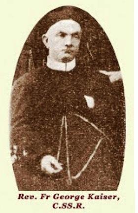 Il redentorista P. Jorge Kaiser, 1867-1929, Francia, Provincia di Lione. Nel 1892 fu inviato nella vice-Provincia del Pacifico, dove per quasi tutto il resto della sua vita fu assegnato alla casa di Cuenca in Ecuador. Guadagnò  una notevole fama di missionario. la sua morte avvenuta a 62 anni durante una missione in Vallis vicino Cuenca il 1° dicembre 1929.