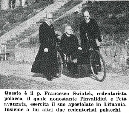 Il redentorista P. Franciszek Świątek, C.Ss.R. 1889-1976 – Polonia, Vice Provincia Polonica. Morto a 87 anni.