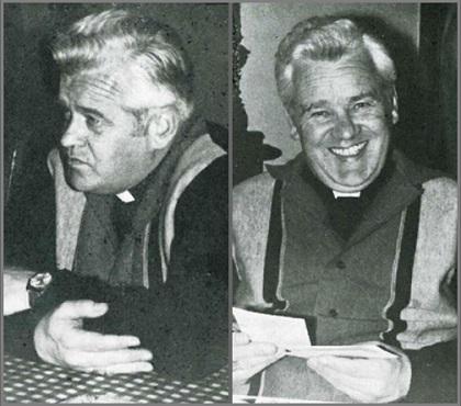 Mons. Roger Aubry, durante l'intervista sul Sinodo dei Vescovi aRoma, 3 novembre 1974.