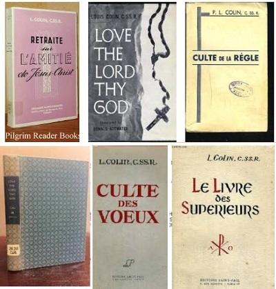 Alcune delle numerose pubblicazioni del P. Louis Colin.