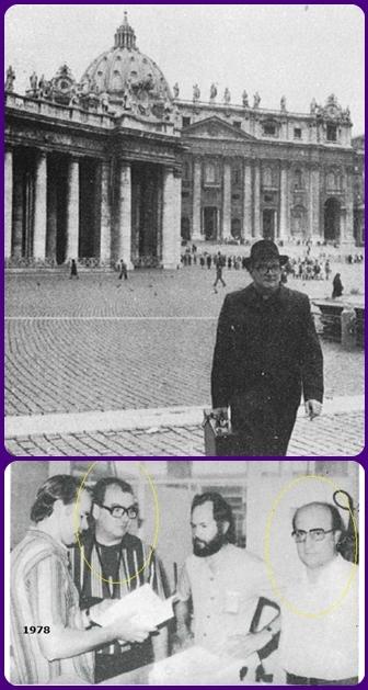P. John Joseph Ruef nell'esercizio dei suoi uffici: Procuratore generale della CSSR con la S. Sede e Consultore Visitatore (qui nella tipografia di Aparecida, Brasile, 1978).