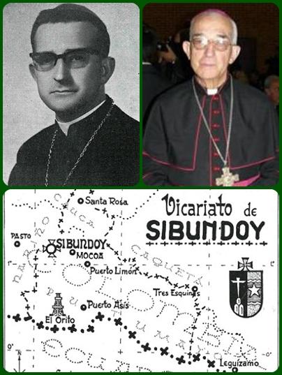 Mons. Ramón Mantilla Duarte, giovane Vicario Apostolico di Sibundoy dal 1971, nel 1985 passò ad essere Vescovo di Ipiales, sempre in Colombia; ma solo per due anni. L'infermità lo costrinse alle dimissioni.
