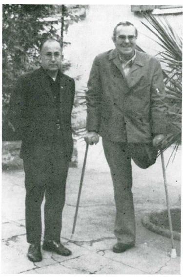 P. Johannes Steinmetzler a Roma nel 1975. Perse la gamba durante il bombardamento alleato nella zona di Materdomini (AV) nella seconda guerra mondiale.